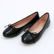 BALLET FLAT(BLACK PATENT PERFORATED)