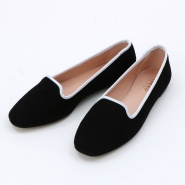 TAB SHOES(BLACK SUEDE White Edge)