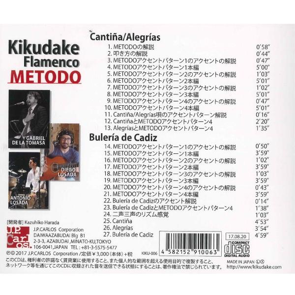 CD】Kikudake Flamenco( Metodo...